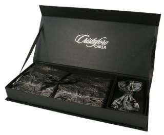 Silver Paisley Silk Tuxedo Cummerbund & Bow Tie Set