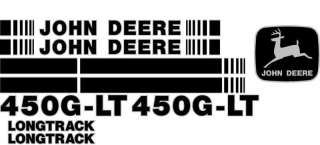 John Deere 450G LT Crawler Dozer Decal Set With Stripe