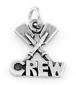 STERLING SILVER ROWING CREW CHARM/PENDANT FREE SHIP