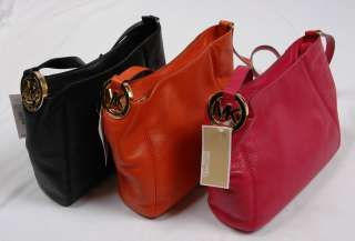 NWT Michael Kors Fulton Leather Medium Messenger Crossbody Bag
