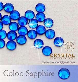 1440 Sapphire Blue Iron on Hot fix Rhinestones 5mm 20ss