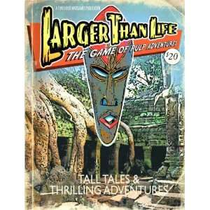 Larger Than Life The Game of Pulp Adventures Toys & Games
