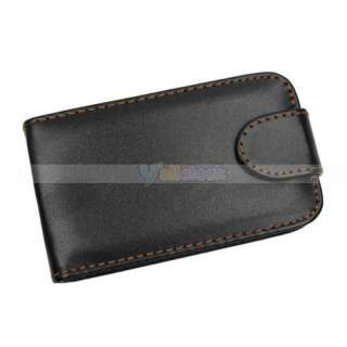 Leather Flip Case For Blackberry Curve 8520 Cover Black