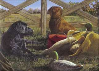 DUCK HUNTING ,THE DOGS ARE READY Wallpaper bordeR Wall |