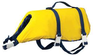 Onyx Yellow Dog Life Jacket Vest   Large (60   80 lbs.)