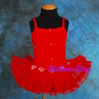 Girls Ballet Dancing Tutu Costume Dress SZ 1T 5 BA019