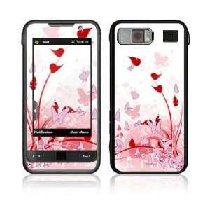 Samsung Omnia Decal Vinyl Skin   Pink Butterfly Fantasy