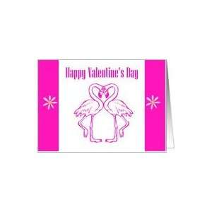 Happy Valentines Day St. Valentine Saint Valentine Flamingo Flamingos