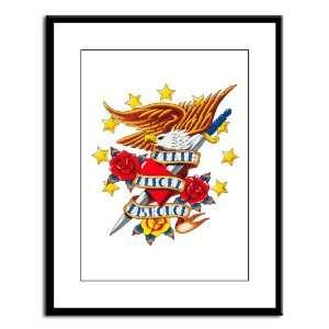 Large Framed Print Bald Eagle Death Before Dishonor: Everything Else