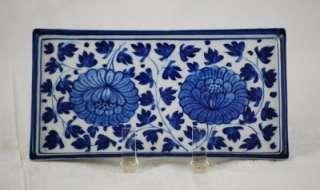 MAITLAND SMITH LTD Blue & White Hand Made Ceramic Condiment Vanity