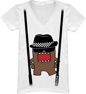 DOMO KUN T Shirt Tee NEW DomoKun Rude (JUNIOR) white