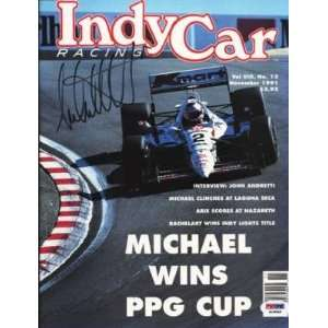 Michael Andretti Signed 1991 Indy Car Magazine Psa Coa   Autographed