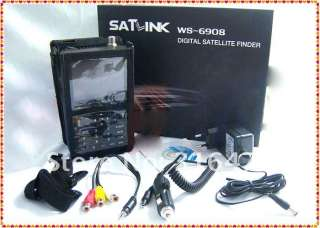 WS 6908 LCD DVB S FTA Professional Digital Satellite Finder Meter ts