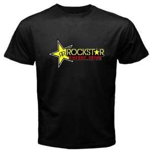 Rockstar Energy Logo New Black T shirt Size S