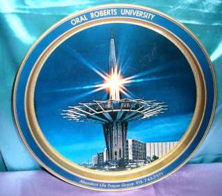 ORAL ROBERTS UNIVERSITY PRAYER TOWER DECORATIVE TRAY