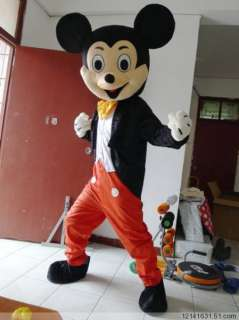 New 2pcs Mickey and Minnie Mouse Mascot Costume Fancy Dress #AA