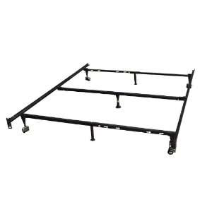 Duty Metal Queen Size Bed Frame With Center Support Home & Kitchen