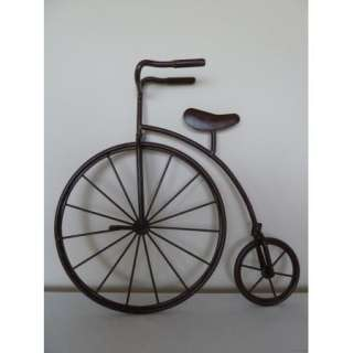 Wrought Iron Penny farthing High Wheel Bicycle Metal Wall Art Very