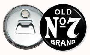 Jack Deniels NO7 Button bottle Opener / Fridge magnet