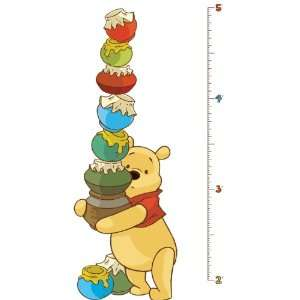 RoomMates RMK1501GC Pooh and Friends Peel & Stick Growth
