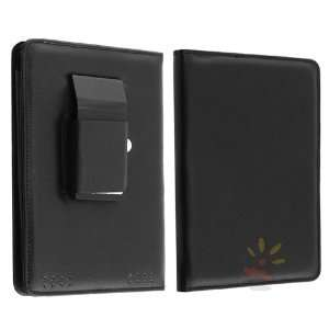 For  Kindle Touch Leather Case w/ Light , Black