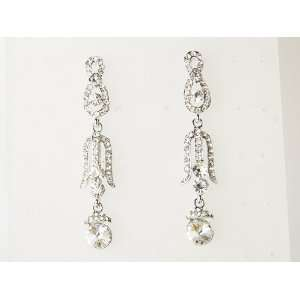 Elegant Victorian Vintage Design Crystal Rhinestone Dangle