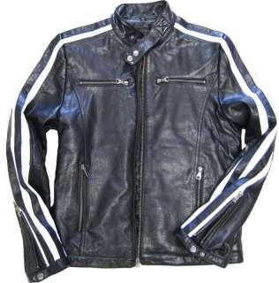 Mens Moto Rider BLACK Lamb Skin Leather Jacket 5579
