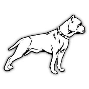 Pit Bull Pitbull Dog Car Bumper Sticker Decal 5 X 4