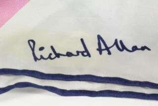 Richard Allan Blue Green Pink Geometric Silk Print Ladies Scarf