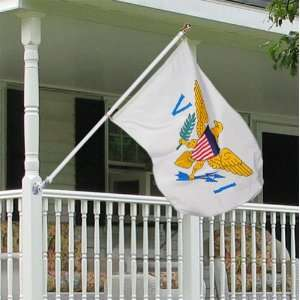 Virgin Islands 3x5 porch flag kit with aluminum anti furl
