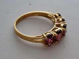 10K GOLD LADIES GARNET RHODOLITE RING   NEW NO SCRAP