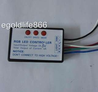 RGB controller LED light controller,DC5V output 9A low power SPEED