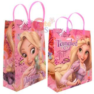 Princess Tangled Rapunzel Party Gift Bag  6pc Plastic/Reusable  Pink