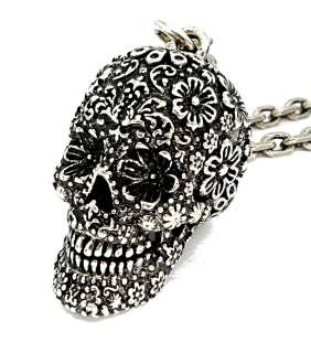 Disney Couture Pirates of the Caribbean Silver Skull Necklace
