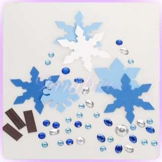 Christmas Snowflake DIY Fridge Magnet Sticker Party Favor Supply