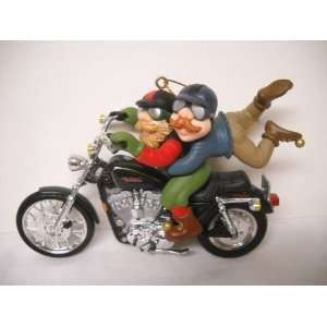 Harley Davidson Elves to the Rescue Christmas Ornament