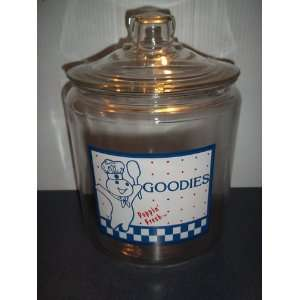 Pillsbury Doughboy Glass Goodie Cookie Jar: Everything
