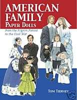DOVER BOOKSAmerican Family Paper Dolls c.1620   1860s