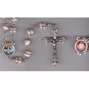 Rita Pink Rosary with Holy Prayer Card, Velour Bag and Weekly Prayer