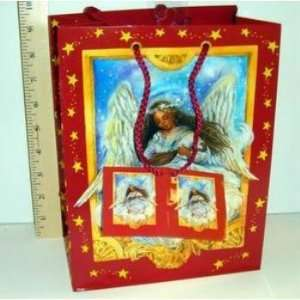 Drawstring Glossy African American Angel Gift Bag Case