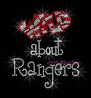 WILD ABOUT RANGERS RHINESTONE IRON ON TRANSFER HOT FIX BLING SCHOOL