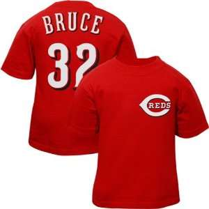 Reds #32 Jay Bruce Toddler Red Player T shirt