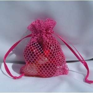 Favor Gift Bags/Jewelry Pouches   Hot Pink (10 Bags)