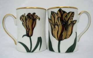 Fitz & Floyd FLORAISON 2 Mugs VINTAGE A+ Mint Condition