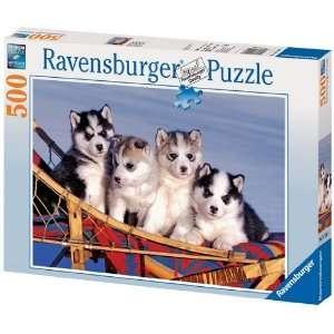 Ravensburger   Baby Huskies   500Pc Jigsaw Puzzle: Toys