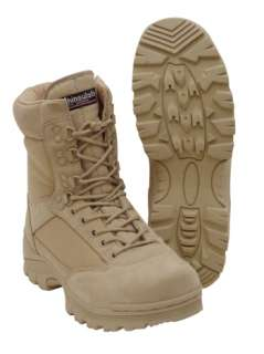 Desert Tan Tactical Boot with YKK Zipper, Easy On & Off 783377098503