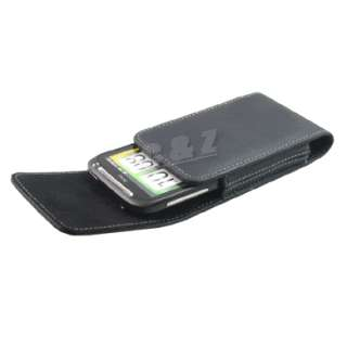 Leather Case Belt Clip Pouch + LCD Film HTC Desire S p