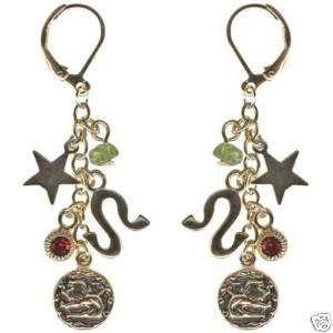 Kirks Folly Crystal Star Gazer Earrings Leo Zodiac
