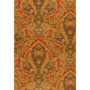 Raipur Paisley Terra Cotta by F Schumacher Wallpaper: Home