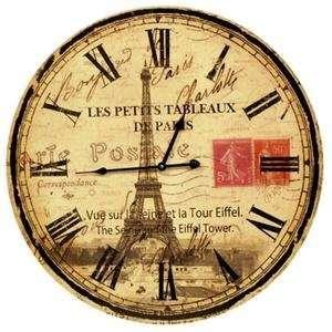 Paris Eiffel Tower Wall Clock 24 inch